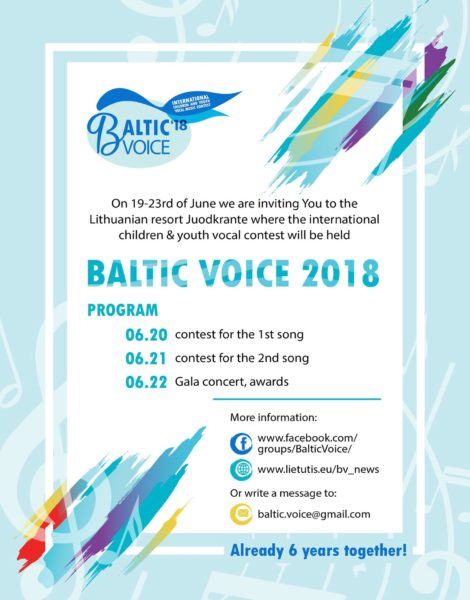 Baltic Voice 2018 (reg. -20 aprill)